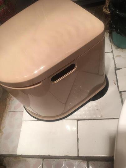 移动马桶老年人坐便器老人孕妇马桶简易便携式马桶家用室内蹲厕 第七代/白色/蹲厕桶 晒单图