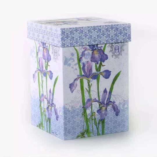爱屋格林 手绘陶瓷马克杯 情侣艺术咖啡杯 带盖杯子 水杯 500ML 礼盒装典雅玫瑰 3LTM5233BL 晒单图