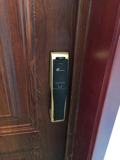GateMan 盖特曼B360指纹锁家用智能锁防盗门 密码锁电子锁香槟金红古铜遥控蓝牙磁 B360香槟金 普通款(包安装) 晒单图