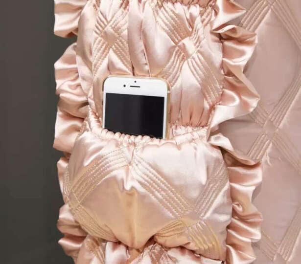 柠檬日记 布艺床头罩实木床头套加厚欧式皮床1.5m罩1.8床保护套 H8 浅粉色2.2米床头罩 晒单图