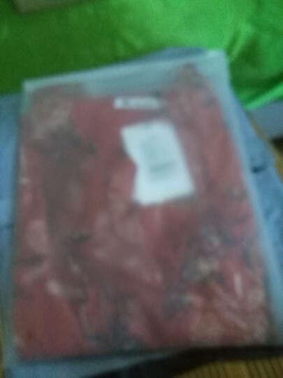 密瓜森林连衣裙2018夏季新款女装中长款大码中国风喇叭袖碎花雪纺连衣裙子9626 红花裙 XL 晒单图