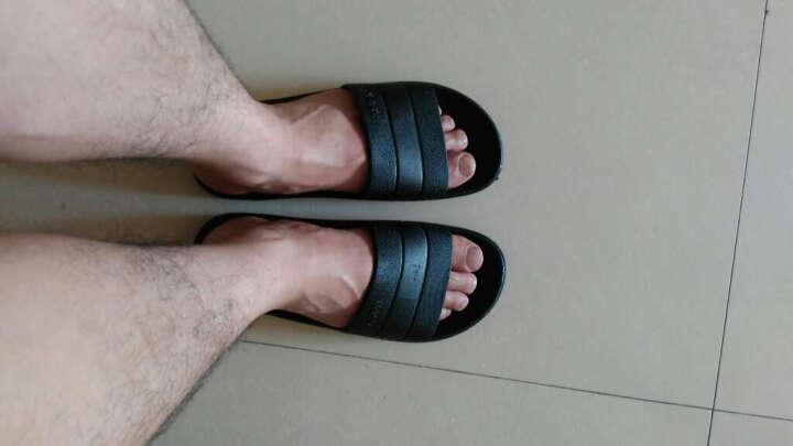 安尚芬 凉拖鞋男女家居防滑浴室凉鞋软底沙滩拖鞋 黑 色 250/38-39(适合37-38) 晒单图