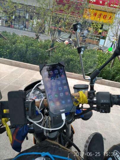 摩托车手机支架usb充电器通用电动车车载导航夹自行车手机架 晒单图