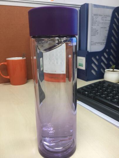 乐扣乐扣(locklock) 双层玻璃水杯耐热直身杯创意随手杯学生杯带茶隔 LLG653 浅紫色【350ml】 晒单图