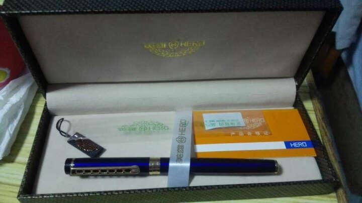 钢笔钢琴烤漆男女学生直尖书法签字笔美工笔 办公练字笔礼盒装 签字免费刻字 非京东自营 礼盒蓝色 0.5mm 晒单图