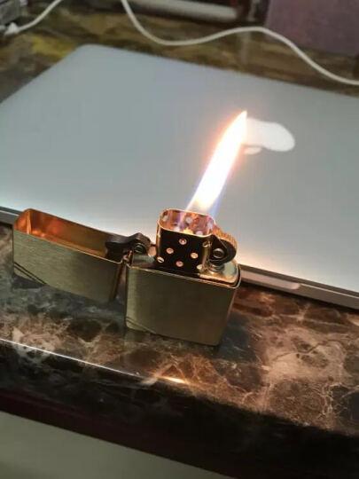 之宝(Zippo)打火机 古典铜切角沙子 240 拉丝黄铜 煤油防风火机 晒单图