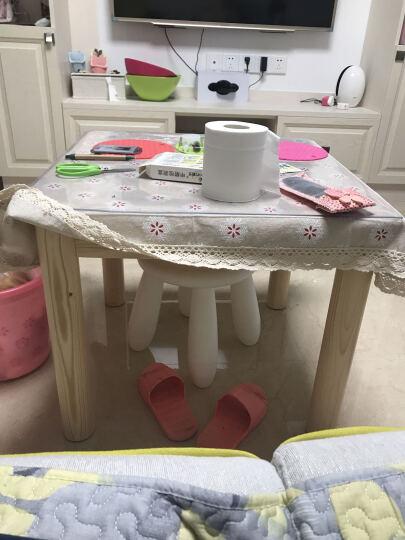 松堡王国 北欧松木圆角小方桌 青少年儿童环保家具P007 晒单图