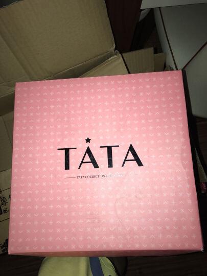Tata/他她冬季专柜同款酒红色牛皮女短靴2H641DD5 黑色 39 晒单图