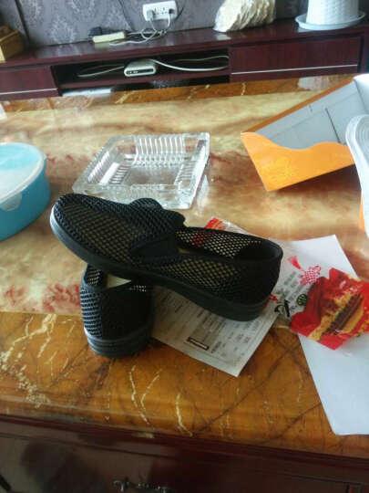 颐福元 老北京布鞋男夏款凉鞋传统爸爸鞋舒适网眼透气懒人网鞋布老人鞋 咖色(大网眼) 42 晒单图