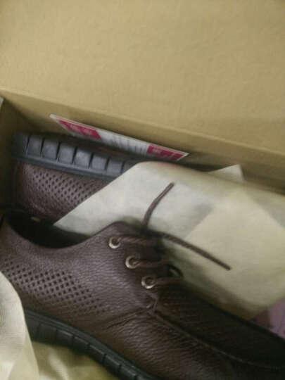 瑞蓓妮皮鞋商务休闲鞋夏季新款镂空皮鞋男中老年爸爸鞋大码老人凉鞋 1886棕色皮鞋 42 晒单图