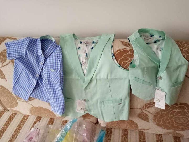 巴拉巴拉男童长袖衬衫中大童冬新款童装儿童纯棉加绒格子衬衣男厚 蓝咖色调 150 晒单图