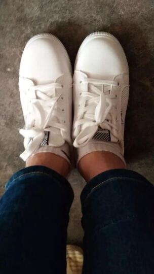 威基拉内夏季小白鞋男生鞋子 男士韩版潮流青少年平板鞋 学生夏天懒人鞋透气秋季 红色(BB01) 43 晒单图