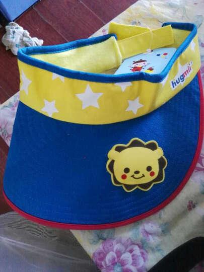 hugmii儿童帽子夏天卡通可爱男女童休闲空顶帽防紫外线太阳帽 狮子 晒单图