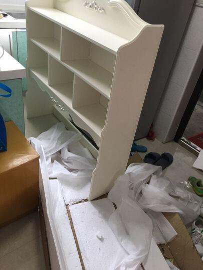 鹏景雅居 欧式书桌 法式转角电脑桌写字台书架书柜组合学习桌 G71 0.8m书桌+无扶手转椅 0.8m直角 晒单图