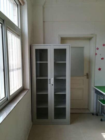 钢制办公文件柜档案柜铁皮柜书柜带锁储物柜凭证柜资料整理柜子 通玻璃对开柜-图1 板材厚度0.5mm 晒单图