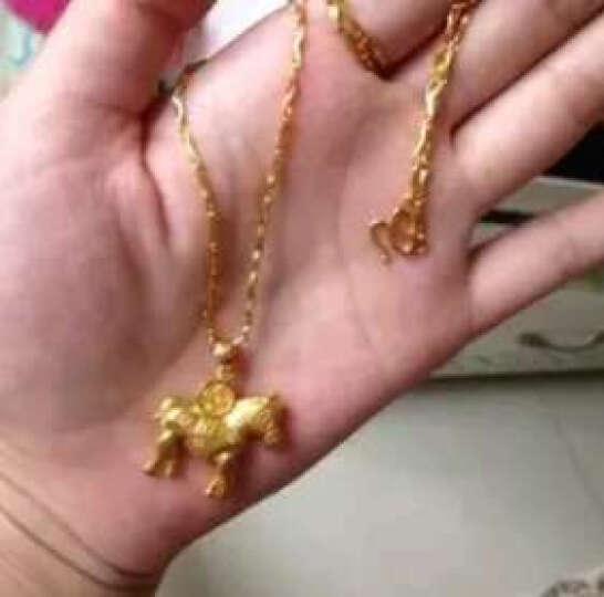 福强珠宝 黄金项链女款 足金元宝项链 黄金吊坠项链送女友节日礼物A1023 6.38克 约44cm 晒单图