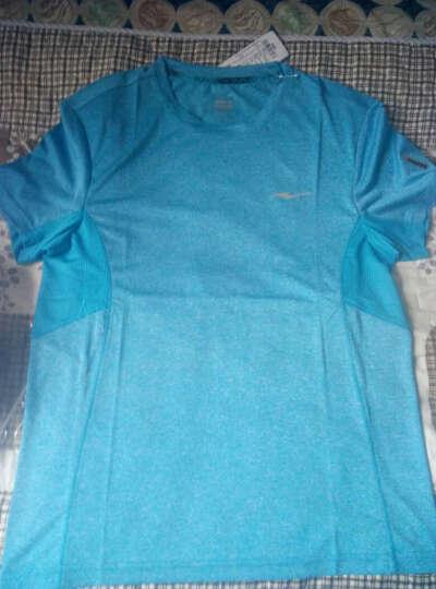 鸿星尔克ERKE 男圆领短袖T恤透气吸汗轻便运动短T 51217119003 闪电蓝 XL 晒单图