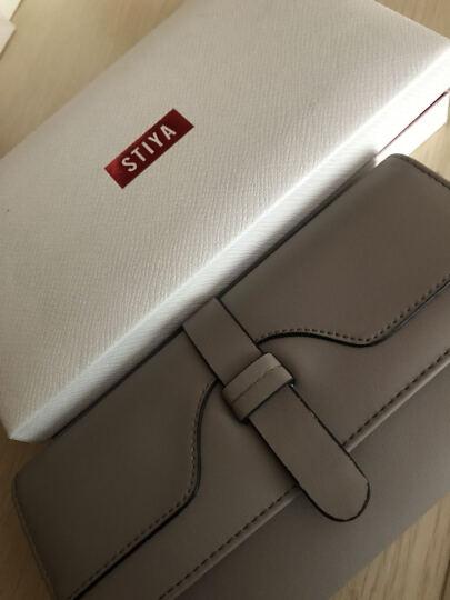 STIYA斯提亚女士钱包 新品牛皮拉链手拿包女式短款多色多卡位手机包大容量零钱夹 黑色长款 晒单图
