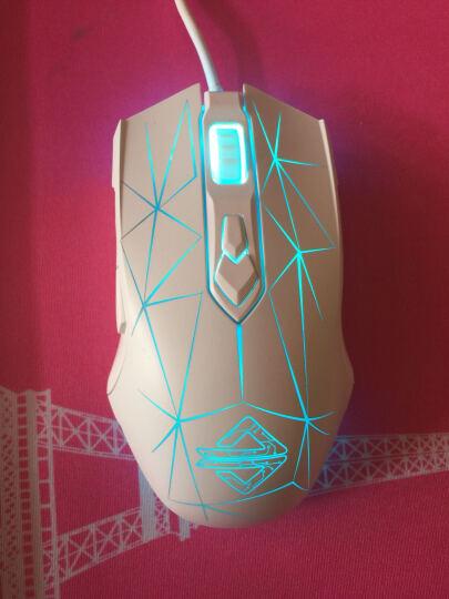 黑爵(AJAZZ) 电竞游戏鼠标有线USB牧马人2代机械鼠标台式电脑笔记本宏网吧守望先锋 黑爵AJ52黑色星辰版 晒单图
