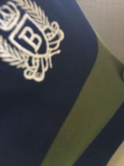 吉普JEEP 夏季男士条纹短袖Polo衫中年翻领T恤时尚新款休闲商务半袖保罗衫潮流薄款宽松 红色 L 晒单图