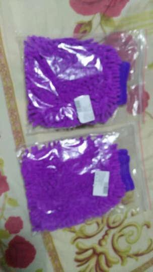 优润佳 洗车手套 双面雪尼尔珊瑚虫擦车多用途手套 双面粗绒紫色 晒单图