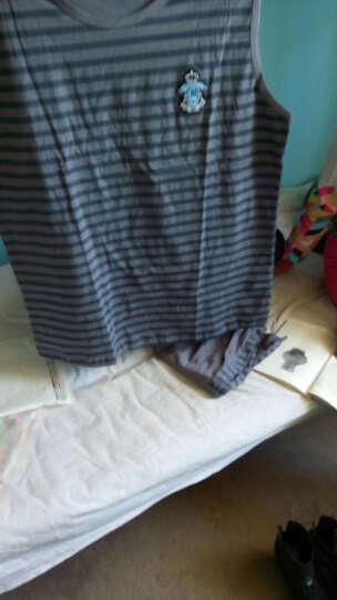 茵淇娜 睡衣男秋冬季纯棉长袖运动休闲可外穿加肥加大码条纹家居服套装 TM2816 L-170CM 晒单图