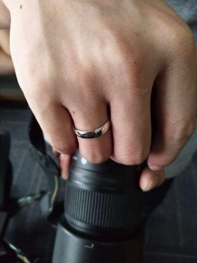 LOVEHER铂金戒指男士对戒白金戒指男女情侣戒指男款 光面光圈对戒 Pt950【单个】 23号 约6.26克 定制定金 晒单图