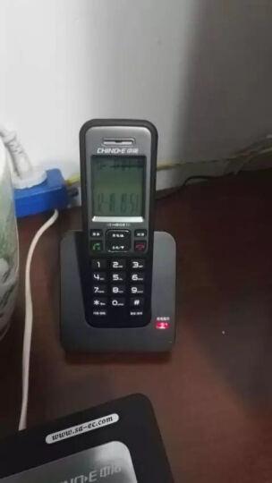 中诺(CHINO-E)H802 固定电话机无绳座式子母机一拖一家用办公室无线座机 雅士黑 晒单图