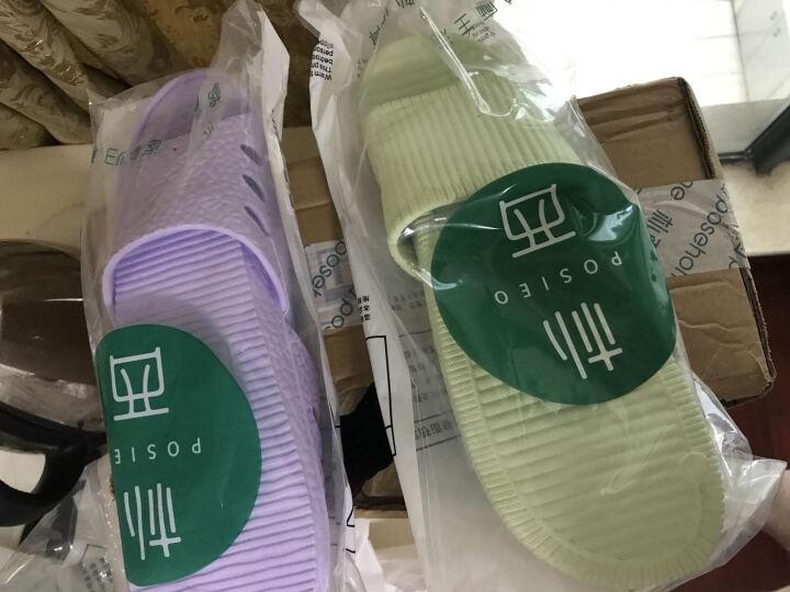 朴西 新款家居凉拖鞋夏天女士居家洗浴拖鞋男软底塑料浴室拖鞋 浅绿色 37-38(建议36-37) 晒单图