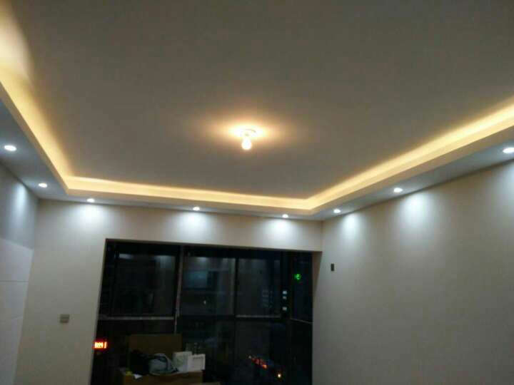TCL 照明灯带led灯条高亮贴片暗槽灯软彩色灯过道灯装饰灯氛围灯插头 2835灯带 1米/暖黄光 晒单图