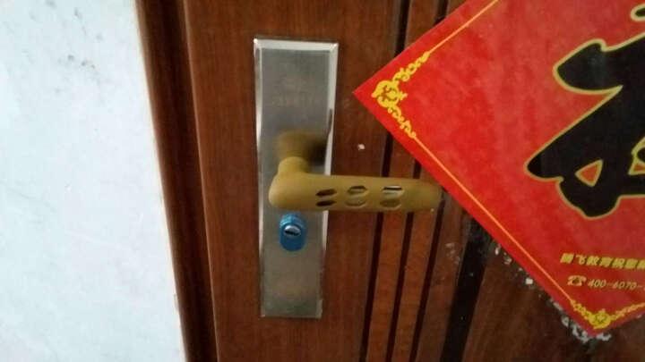 蒙莱奇门防撞把手套 门用配件 防撞保护套门套 儿童安全门把手 褐色 晒单图
