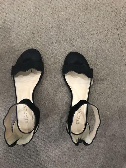 STACCATO/思加图凉鞋女夏季专柜同款银色羊皮女凉鞋9US04 银色 38 晒单图