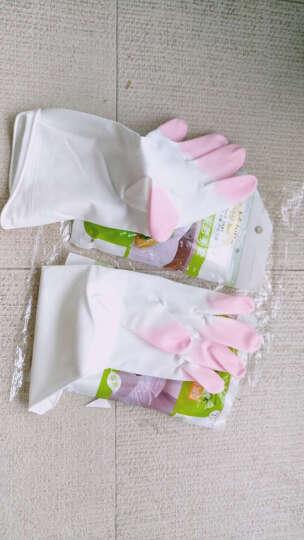 蔓妙 家务手套指尖加厚耐用厨房防水乳胶 手套 洗碗洗衣橡胶手套 薄款胶皮手套 3双装三色随机发送 M码 晒单图