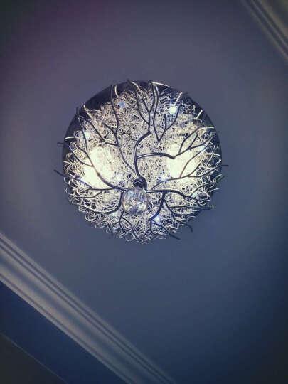 尚层(SanCun) 灯具 客厅 简约现代大气客厅灯家用led吸顶灯创意新款卧室水晶灯全屋灯具套餐 水晶款-直径52cm-暖光24瓦适合6-12平 晒单图