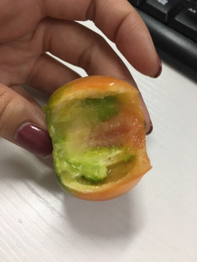 东北特产新鲜铁皮西红柿柿子 盐碱地草莓柿子丹东油柿子番茄绿腚柿子 顺丰2.5kg 晒单图