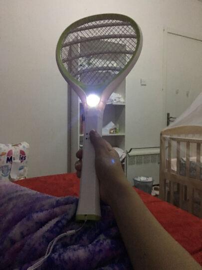 雅格 电蚊拍号充电式LED灯 安全环保灭蚊拍苍蝇拍 5620蓝色 晒单图