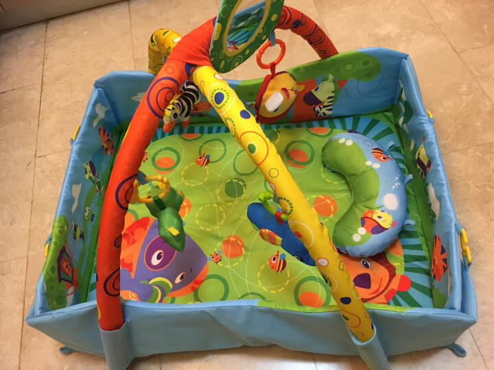 婴儿玩具爬行垫健身架加厚多功能音乐健身架玩具益智玩具游戏毯 Fairchild 绿色音乐B款玩具毯 晒单图