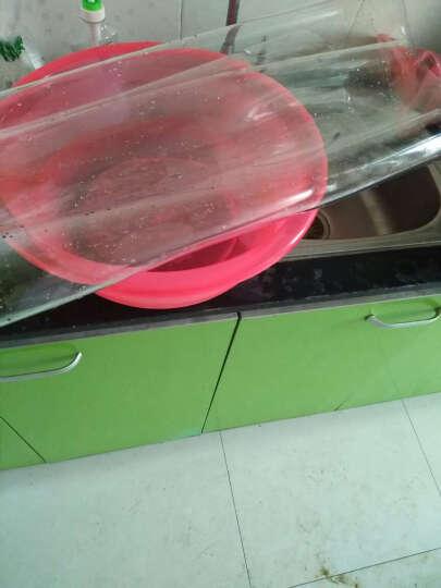 天工坊 软玻璃桌布透明餐桌垫防水茶几垫长方形台布磨砂PVC塑料水晶板防烫防油免洗圆桌定制 纯色透明 透明1.5 60*120cm 晒单图