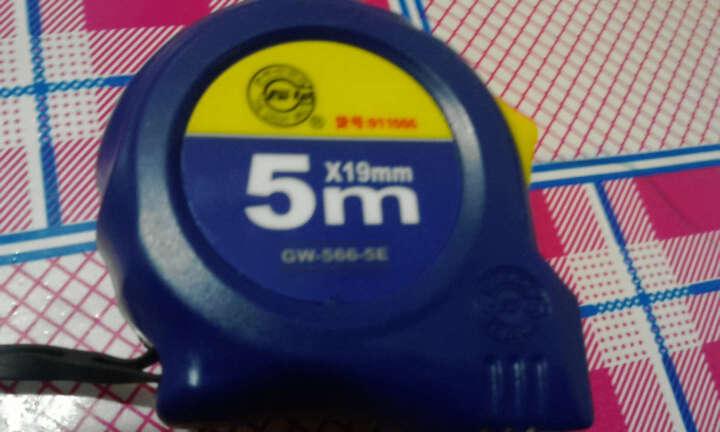 长城Greatwall 钢卷尺盒尺66-5系列双制动公制带扣耐磨高精度伸缩尺家用木工卷尺 10M*25MM 晒单图
