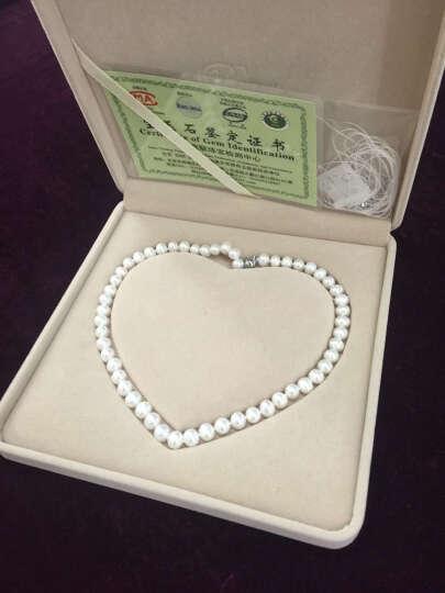 眷钰 天然珍珠项链近圆纯珠 强光色泽好送妈妈婆婆礼物礼品 近圆纯珠8-9mm 45cm 晒单图