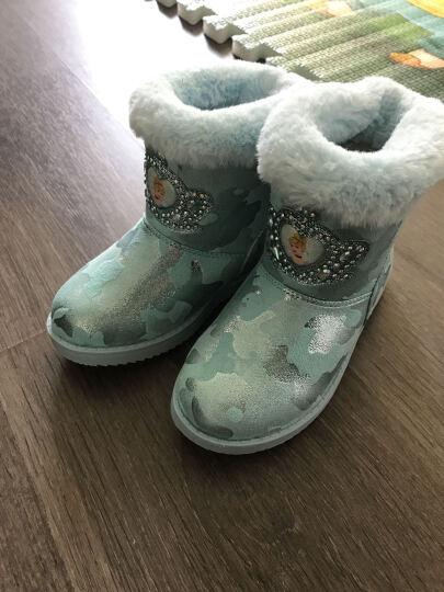 迪士尼(Disney)女童靴子雪地靴3-16岁儿童公主靴白雪公主休闲靴DS1930 浅蓝 28/参考脚长170mm 晒单图