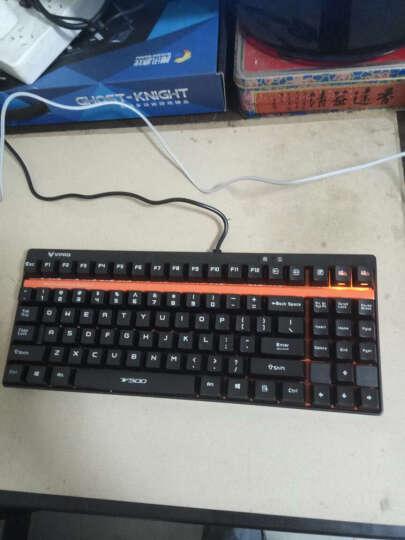 雷柏(Rapoo) V500 游戏机械键盘 游戏键盘 电脑键盘 笔记本键盘 黑色 黑轴 晒单图