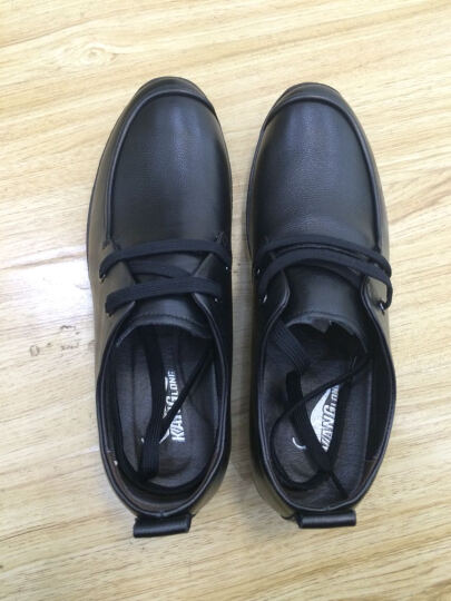 康龙皮鞋男士英伦商务休闲皮鞋 头层牛皮舒适流行男鞋子 黑色253114395 41 晒单图