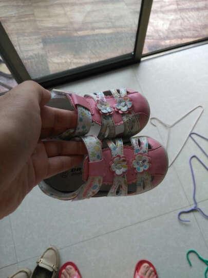 dr.kong江博士女童鞋包头婴儿鞋软底机能鞋女童宝宝凉鞋女1-3岁夏B14172W001 桃红/白 22码/内长13.9cm 晒单图