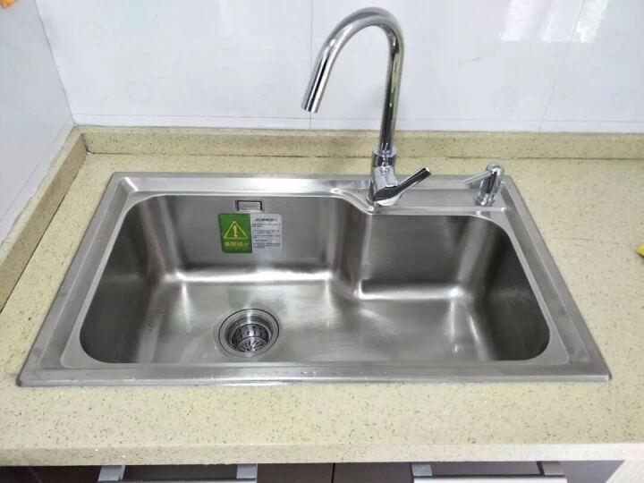 九牧(JOMOO)厨房水槽套装双槽单槽不锈钢加厚洗菜盆消音防凝露洗碗池 水槽单槽B款 晒单图