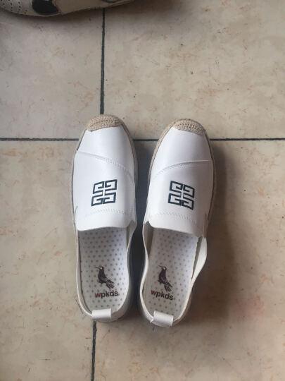意大利啄木鸟(wpkds)休闲鞋男 夏季新款透气豆豆鞋潮流学生板鞋男 102白色 41 晒单图