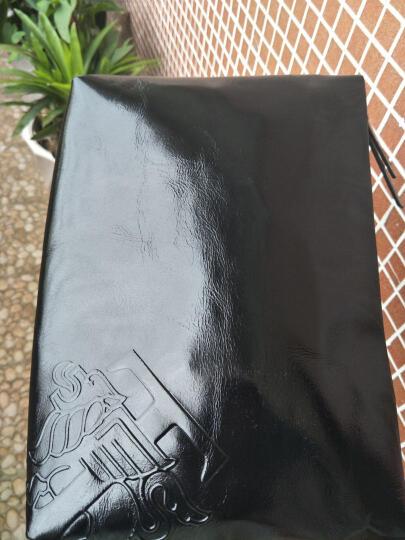 托比斯(TOBYS)男士手包大容量手抓包男款真皮信封包商务手拿包休闲男包夹包韩版头层牛皮 黑色 晒单图