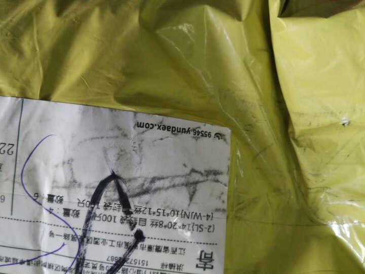 网诺牌 加厚自封袋 透明包装密封袋 封口袋收纳袋 厚度双面12丝 白边 5*7*12丝 晒单图
