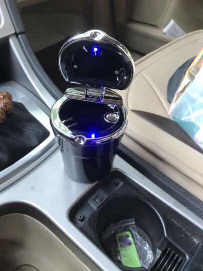 福特车载烟灰缸 翼虎专用带LED灯高档金属烟灰缸 汽车用品 幻影黑 福特新蒙迪欧 致胜 晒单图