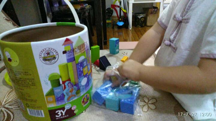 一点儿童大颗粒方块积木玩具女孩智力拼装拼插木质积木小孩木制木头数字大积木桶装儿童机木六一儿童节礼物 数字字母海洋积木50粒2113 晒单图